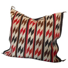 Amazing Large Saddle Blanket / Navajo Indian Weaving Pillow