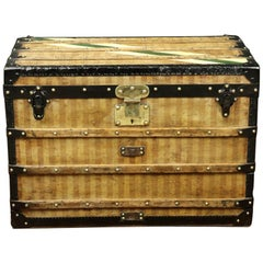 "Amazing Louis Vuitton ""Deauville"" Striped canvas Trunk Circa 1870/1890"