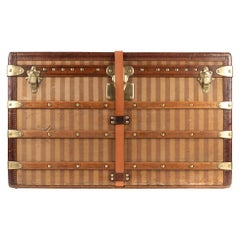 Amazing Louis Vuitton vintage Striped canvas Trunk Circa 1890's