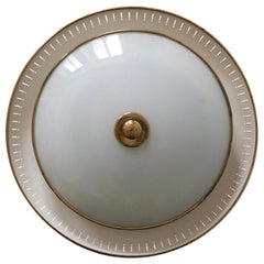 Amazing Mid-Century Modern Flush Mount or Wall Lamp by Hillebrand Germany 1950s