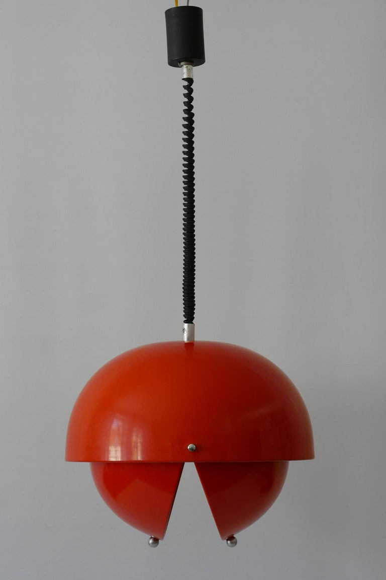 Enameled Amazing Mid-Century Modern Pendant Lamp or Hanging Light by Archi Design Italy For Sale