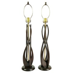 Amazing Midcentury Mexican Modernist Table Lamps by Luxolix