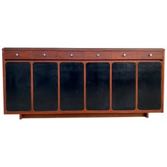 Amazing Midcentury Paul McCobb H Sacks & Sons 14-Drawer Walnut Dresser Credenza