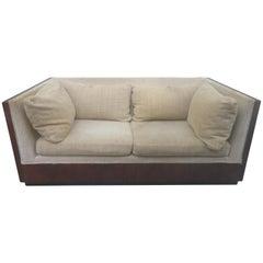 Amazing Milo Baughman Rosewood Case Loveseat Sofa Settee Mid-Century Modern