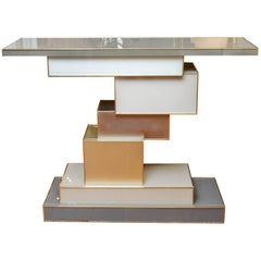 Amazing Mirror Unstructured Console by Studio Glustin