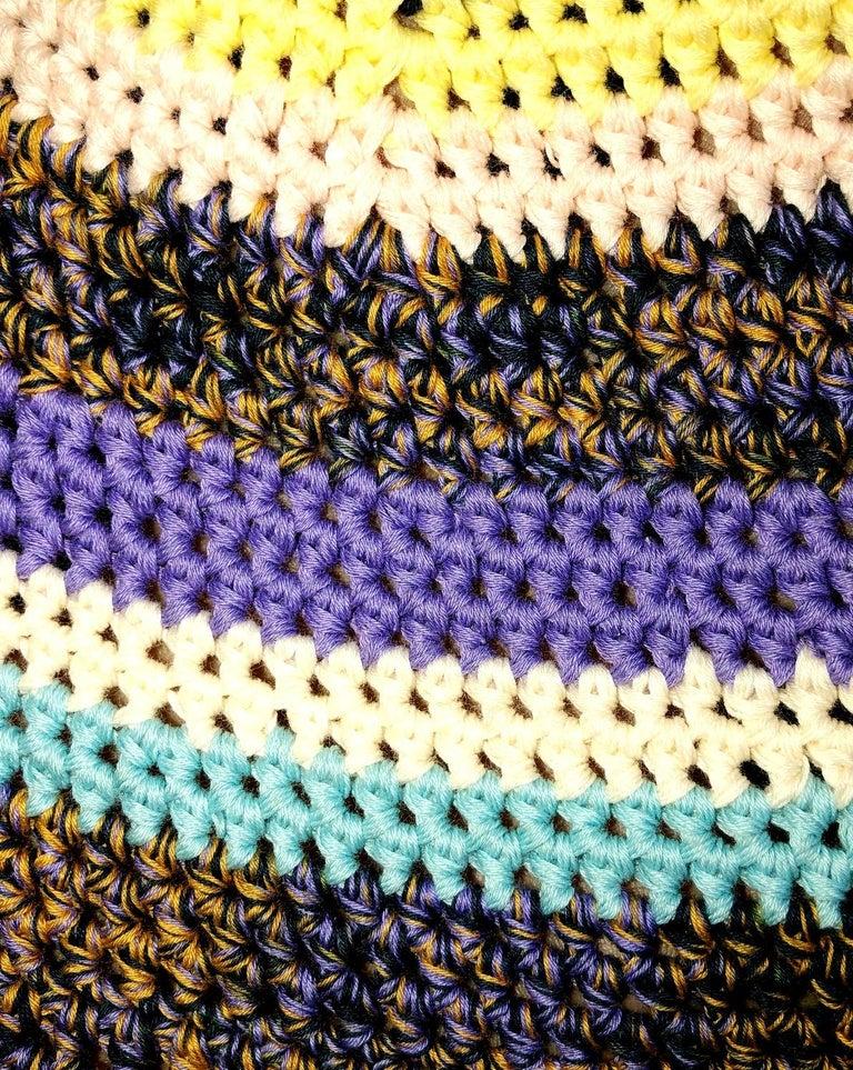 Amazing Missoni Multicolor Wide Brim Crochet Knit Sun Hat In New Condition For Sale In Switzerland, CH