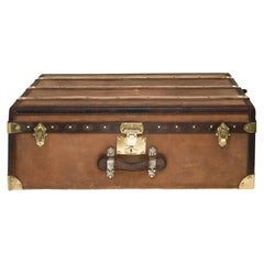 Amazing MOYNAT Cabin Trunk in beige canvas and leather