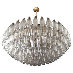 Amazing Murano Glass Candelier, 185 Iridescent Glasses