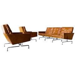 Amazing Natural Leather Pk31 Sofa Set 3+1+1 with Amazing Patina