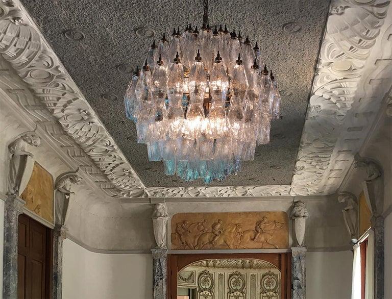 Amazing Pair of Spherical Murano Poliedri Chandeliers Carlo Scarpa Style, Murano 14