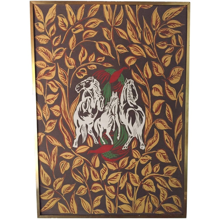Amazing Raoul Dufy Aubusson Tapestry--Signed For Sale