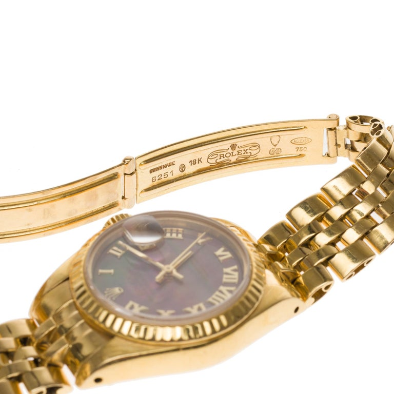 Modern Amazing Rolex Oyster Perpetual lady in yellow gold, 24mm For Sale