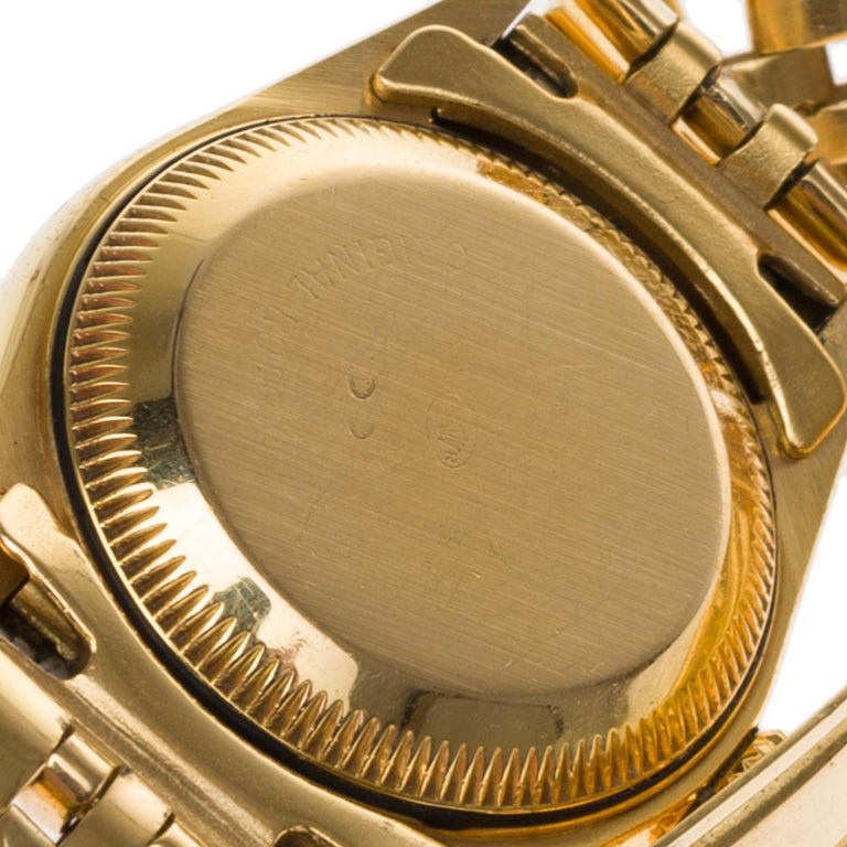 Women's Amazing Rolex Oyster Perpetual lady in yellow gold, 24mm For Sale