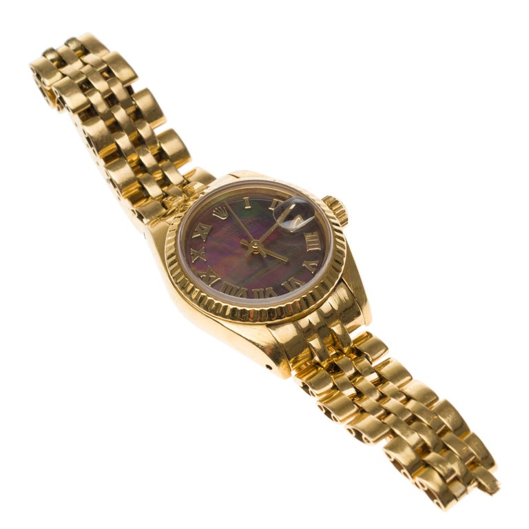 Amazing Rolex Oyster Perpetual lady in yellow gold, 24mm For Sale 2