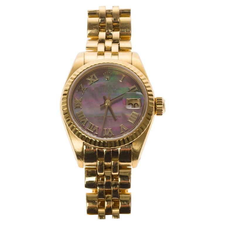Amazing Rolex Oyster Perpetual lady in yellow gold, 24mm For Sale