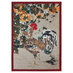 Amazing Rooster Bed-Cover Blanket Silk Cashmere Wool