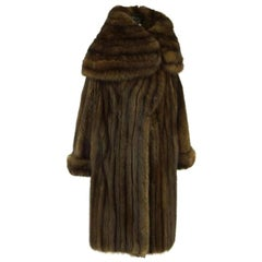 Amazing Russian Sable Coat, Double Breasted, 7/8 Coat with Fold Over Cuff