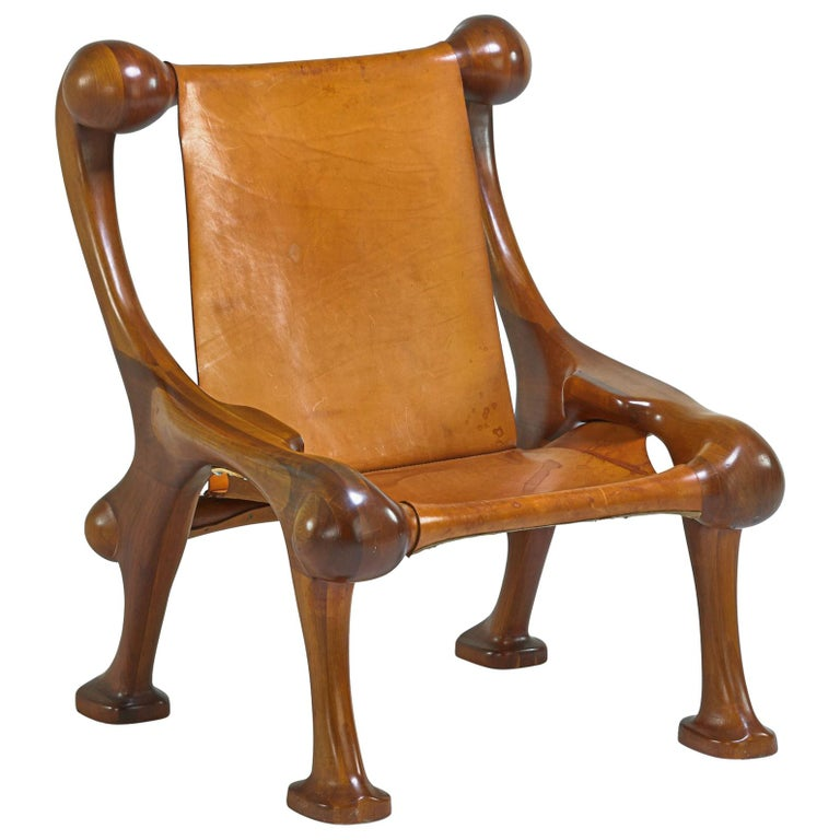 Amazing Sculptural and Organic Lounge Chair by Martin Stan Buchner For Sale