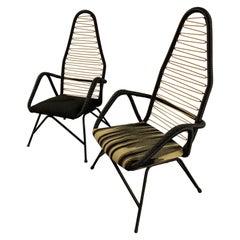 Amazing Set of 2 Scandinavian Highback Lounge Chairs