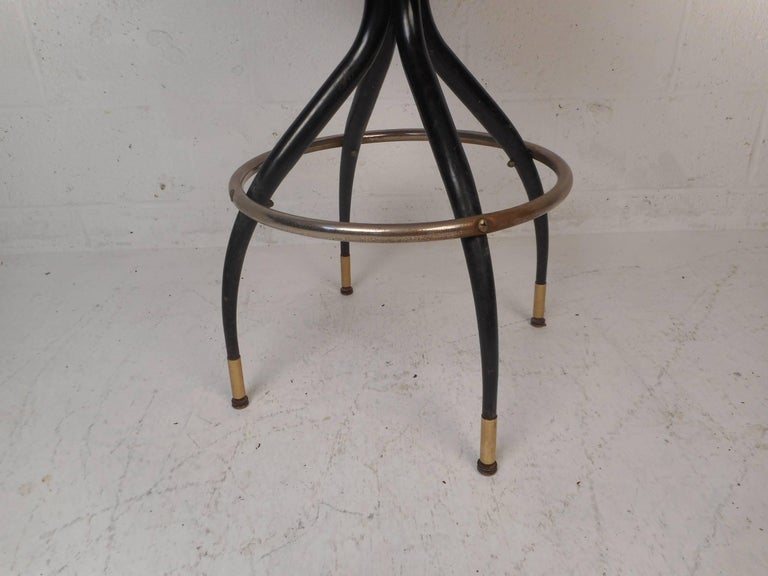 Late 20th Century Amazing Set of Five Vintage Modern Swivel Bar Stools For Sale
