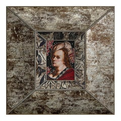 Amazing Sicis Artemisia Gentileschi Micromosaic Canvas White Diamonds Jet Gold