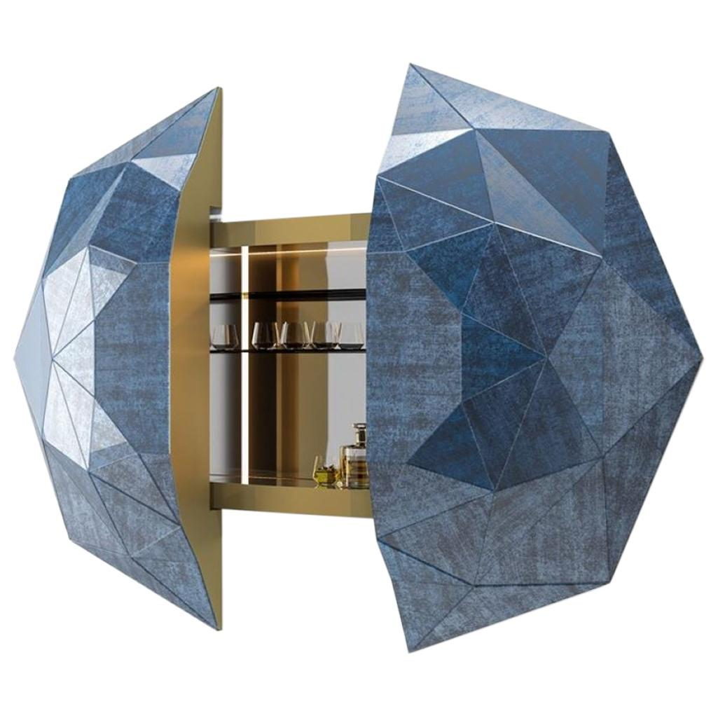 Amazing Diamante Bar Cabinet Vetrite Interior Bronzed Glass