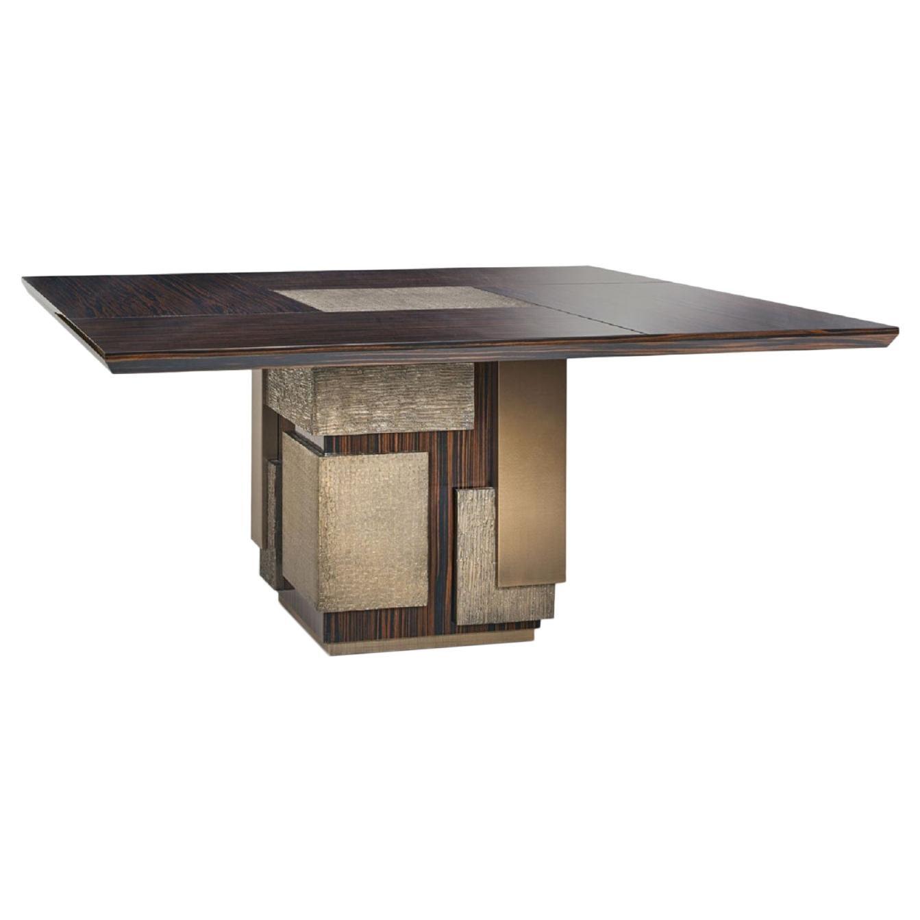 Amazing Table Base and Top Polished Ebony Finish Decorative Insert