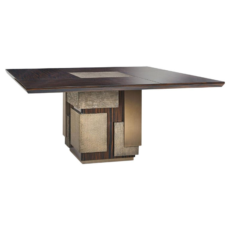 Amazing Table Base and Top Polished Ebony Finish Decorative Insert For Sale