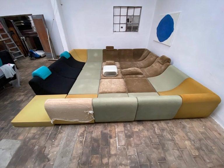 Amazing Space Age 'Pool' Modular Sofa, Luigi Colani for Rosenthal Germany, 1970 For Sale 14