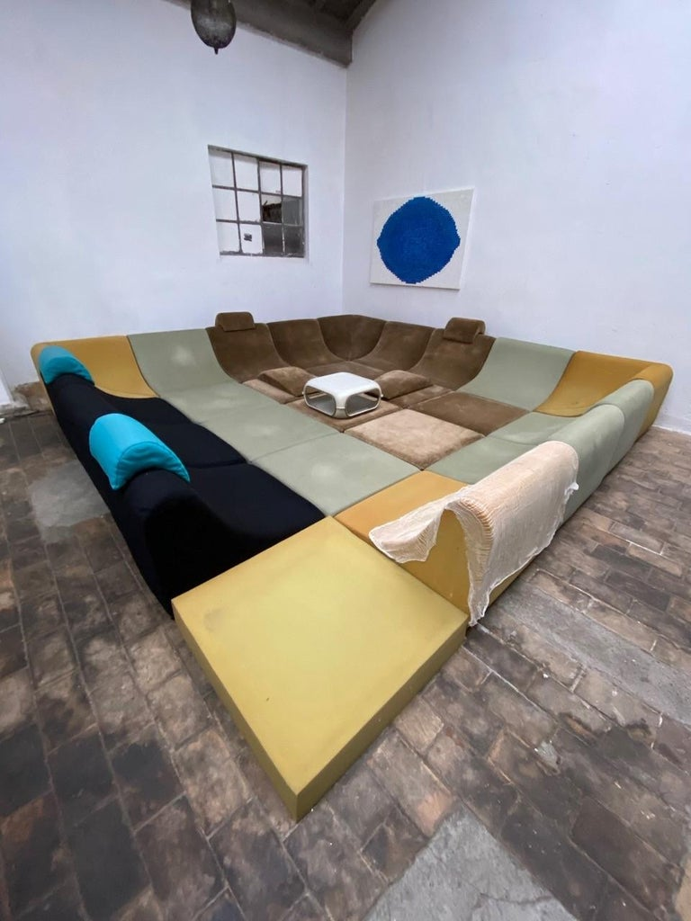 Amazing Space Age 'Pool' Modular Sofa, Luigi Colani for Rosenthal Germany, 1970 For Sale 15