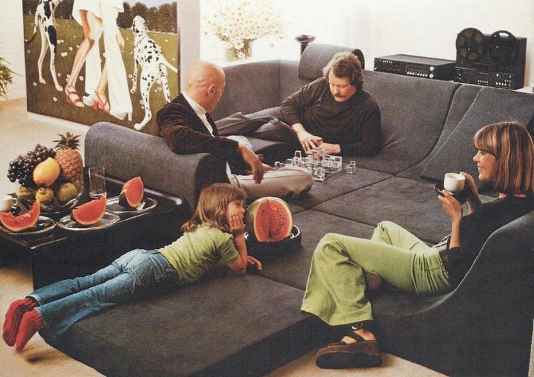 Amazing Space Age 'Pool' Modular Sofa, Luigi Colani for Rosenthal Germany, 1970 For Sale 5