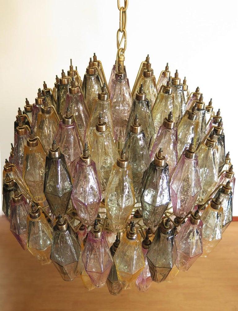 Amazing spherical Murano poliedri Candelier - 140 multicolored glasses 5