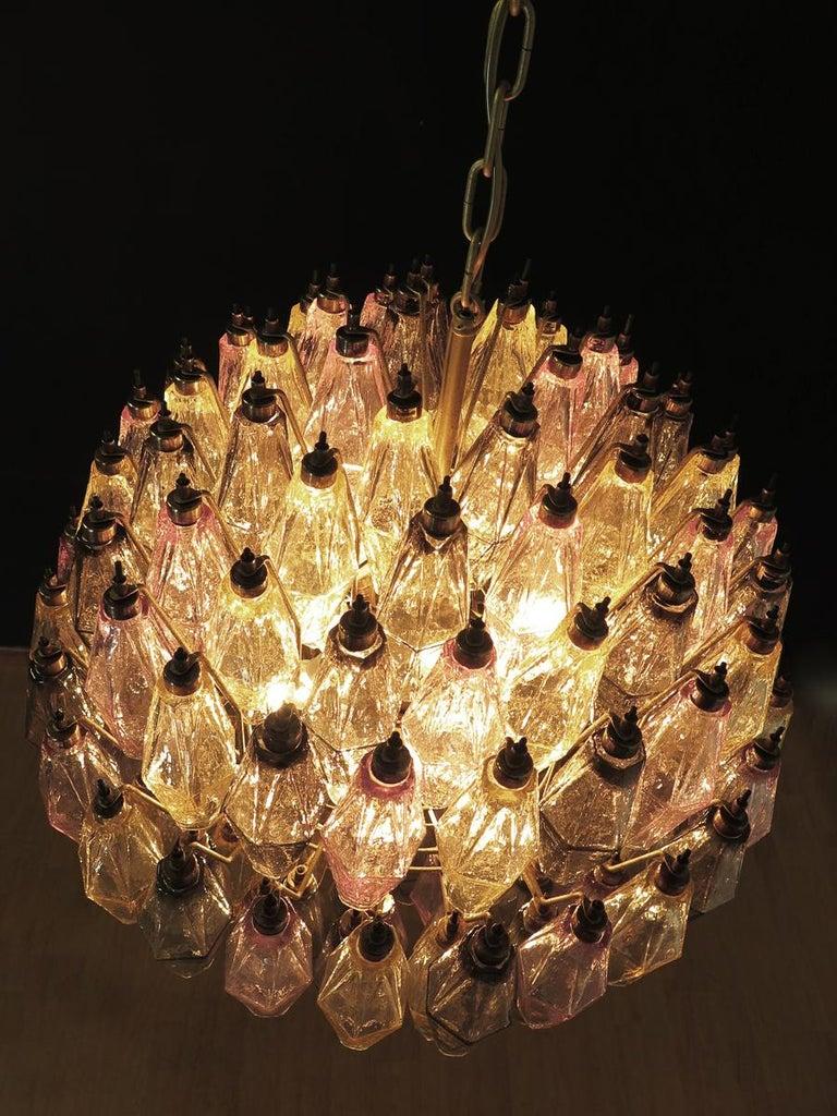 Italian Amazing spherical Murano poliedri Candelier - 140 multicolored glasses