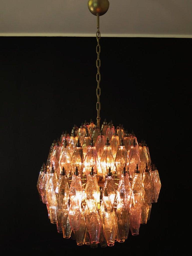 Glass Amazing spherical Murano poliedri Candelier - 140 multicolored glasses