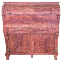Amazing Swedish Early 19th Century Red Painted Gustavian Grocery Cabinet