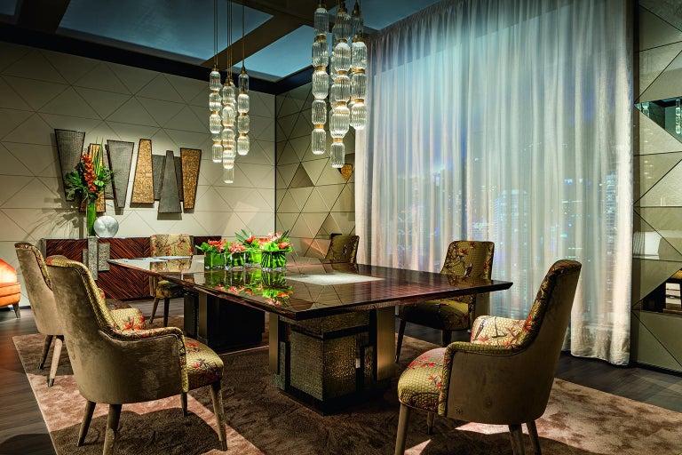 Italian Amazing Table Base and Top Polished Ebony Finish Decorative Insert For Sale