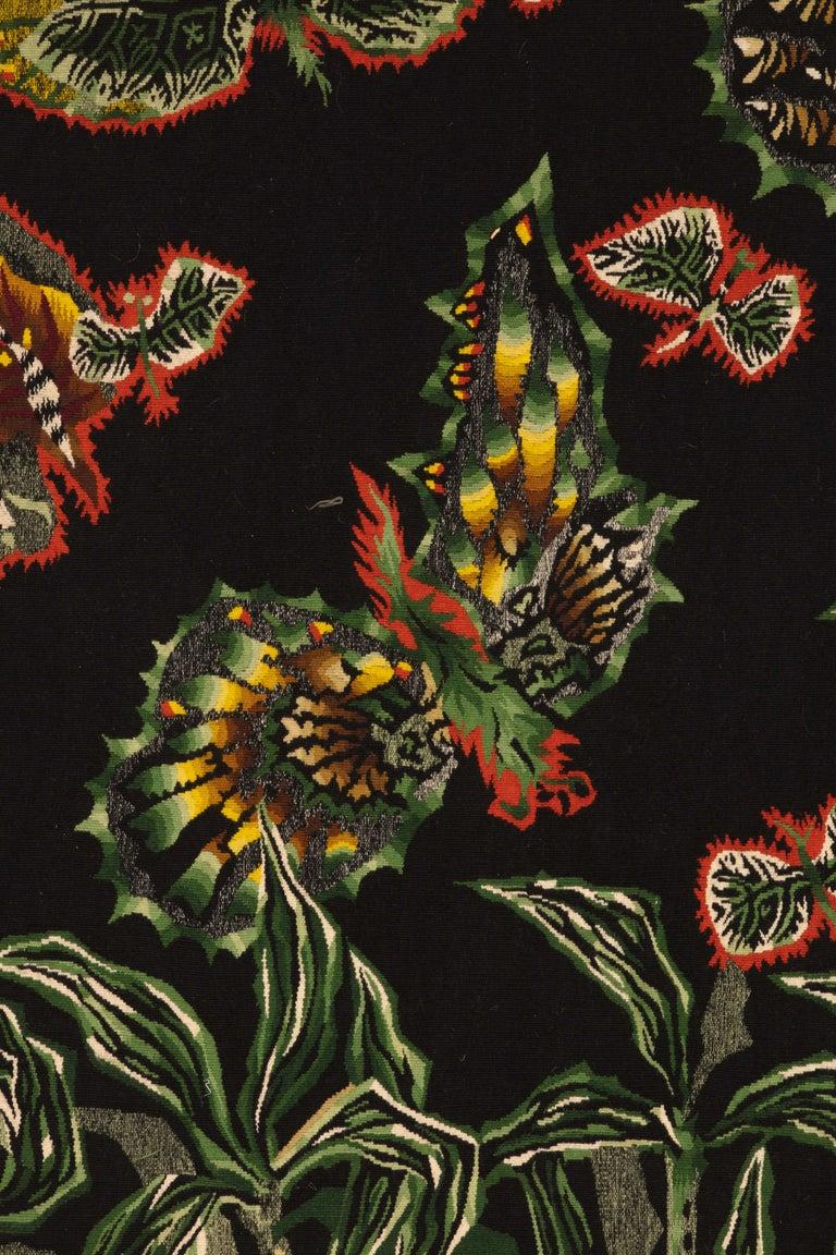 """Jean Lurcat– Black Cotonou  """"Cotonou Noir""""  Material: Wool  Dimensions : 200 x 300 cm, 7 x 10 ft  Aubusson tapestry woven at the Tabard Frères et Soeurs workshop."""
