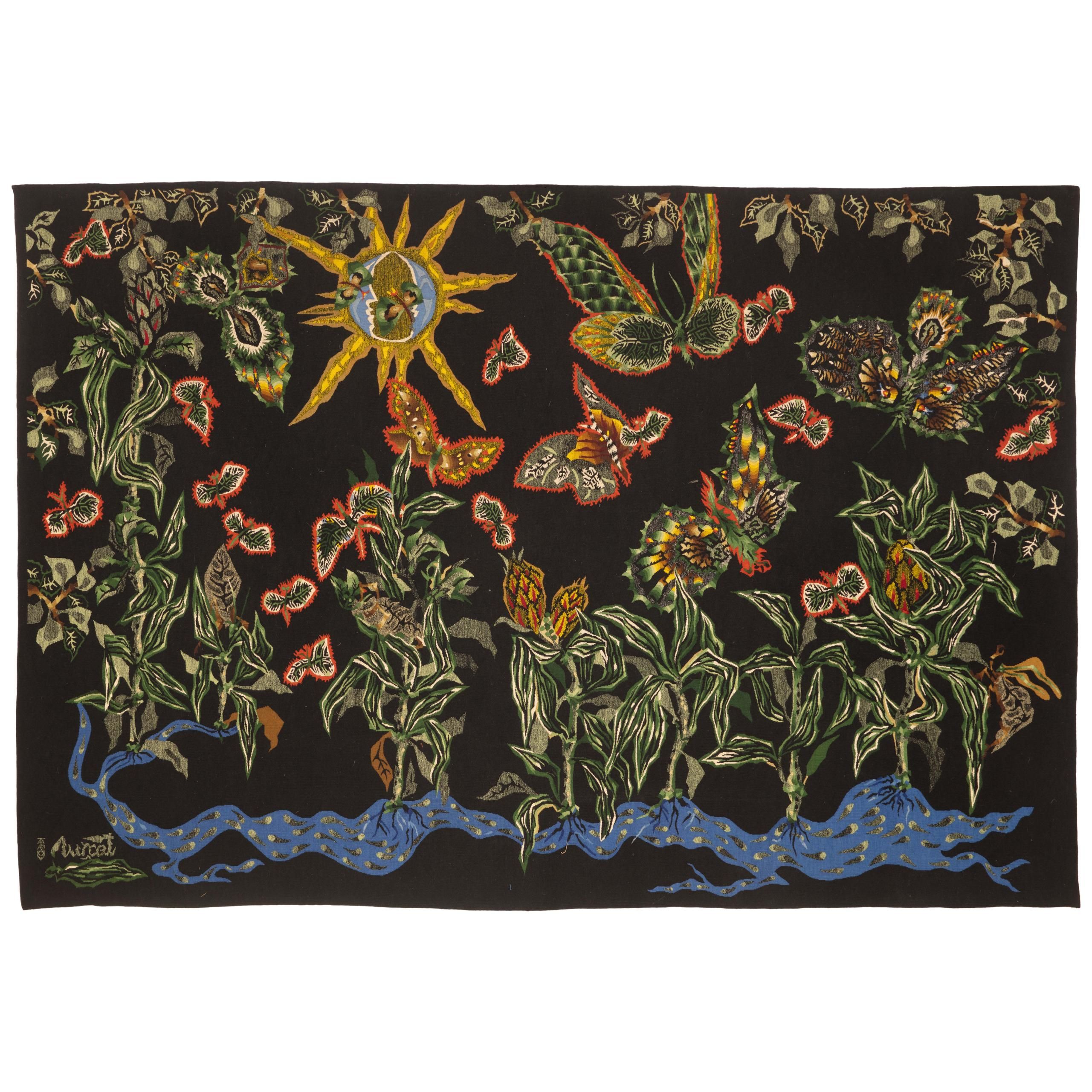 "Amazing Tapestry by Jean Lurcat ""Black Cotonou"""
