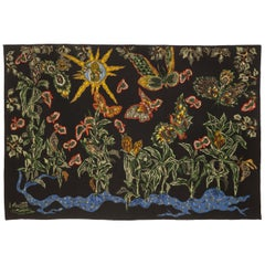 "Amazing Tapestry by Jean Lurcat ""Black Cotonou"""