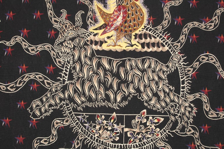 French Amazing Tapestry by Jean Lurçat, Midnight Sun