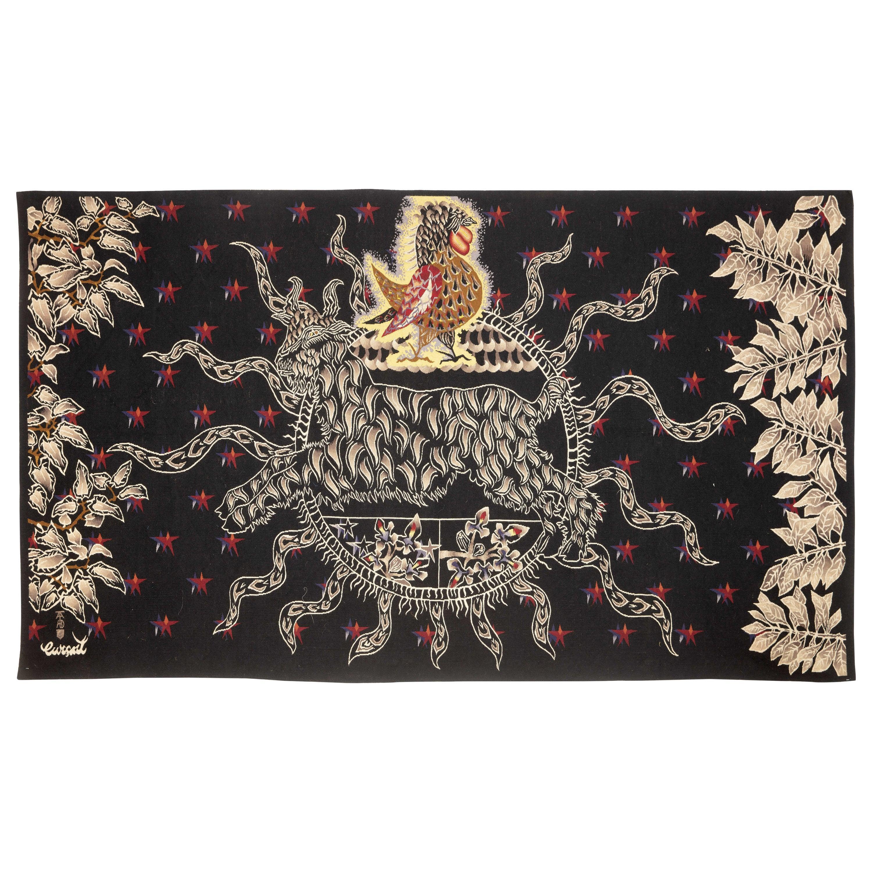 "Amazing Tapestry by Jean Lurçat, Midnight Sun ""Soleil de Minuit"""