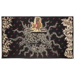 "Amazing Tapestry by Jean Lurçat, Midnight Sun ""Soleil de Minuit"", wool, France"