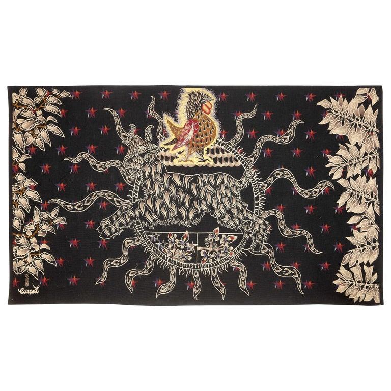 "Amazing Tapestry by Jean Lurçat, Midnight Sun ""Soleil de Minuit"", wool, France For Sale"