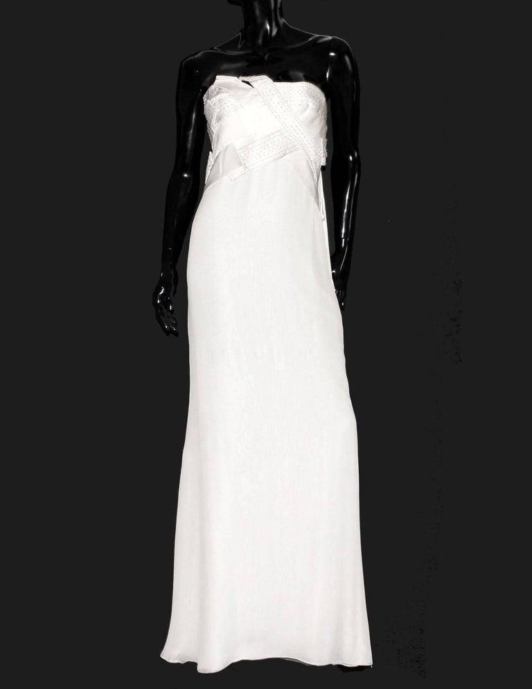 Amazing Versace Beaded Goddess Evening Wedding Bridal Gown Dress For ...