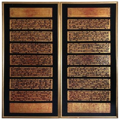 Amazingly Framed and Detailed Pair of Antique Burmese Bibles