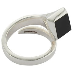 Amazon Ring Sterling Silver with Black Onyx