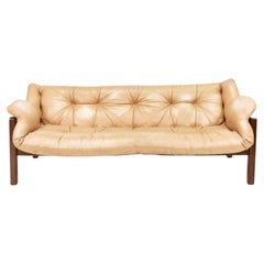 Amazonas Jacaranda, Leather Sofa, Jean Gillon for Italma Wood Art, Brazil, 1965