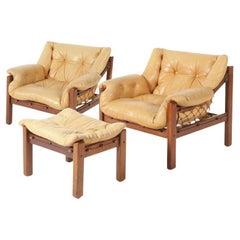 Amazonas Jacaranda Lounge Chair Set, Jean Gillon for Italma Wood Art, Brazil
