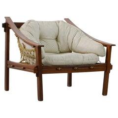 Amazonas Lounge Chair, Solid Jacaranda Rosewood, Brazilian Midcentury