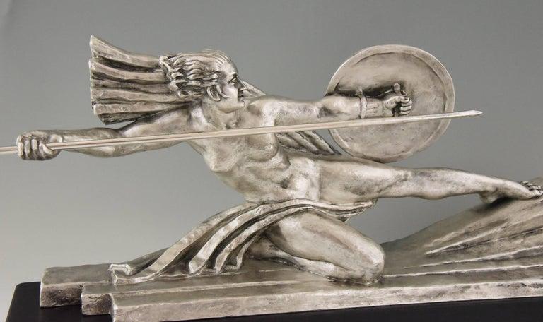 Art Deco Sculpture Nude Dancer with Discs by Marcel